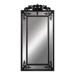 Espelho Clássico com Moldura Preta - 185x92x3cm