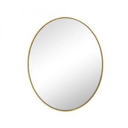Espelho Oval com Moldura Folheada a Ouro - 51x41cm