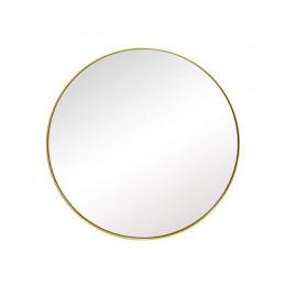 Espelho Redondo com Moldura Folheada a Ouro - 31x31cm