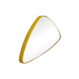 Espelho Triangular com Moldura Folheada a Ouro - 27x46cm