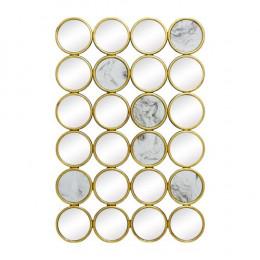 Espelho Decorativo Retangular Com Detalhes em Mármore - 90x60cm