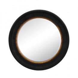 Espelho Redondo com Moldura em Madeira - 94x94cm