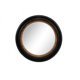 Espelho Redondo com Moldura em Madeira - 55x55cm