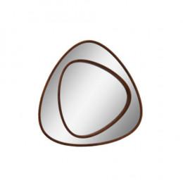 Espelho Triangulo com Moldura em Madeira - 98x98x4cm