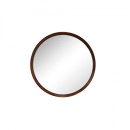 Espelho Redondo com Moldura em Madeira - 54x54cm