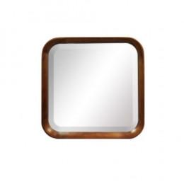 Espelho Quadrado com Moldura em Madeira - 45x45x8cm