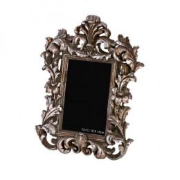 Porta Retrato em Resina Prateado - 29x22cm