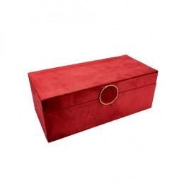 Caixa Decorativa na Cor Vermelho - 10x26x12cm