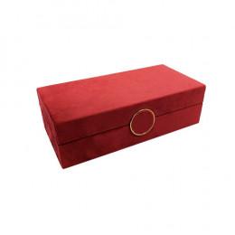 Caixa Decorativa na Cor Vermelho - 7,5x25x12cm