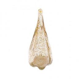 Objeto Decorativo em Murano na Cor Bege com Dourado - 29x12cm