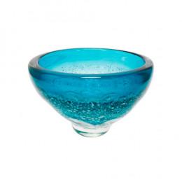 Vaso em Murano na Cor Azul Degrade - 15x23cm