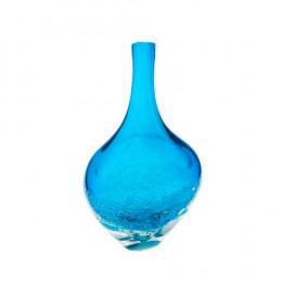 Vaso em Murano na Cor Azul Mar - 37x23x12cm