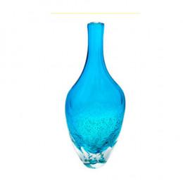 Vaso em Murano na Cor Azul Mar - 41x17x10cm
