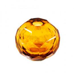 Vaso Decorativo em Vidro Âmbar - 10x10x10cm