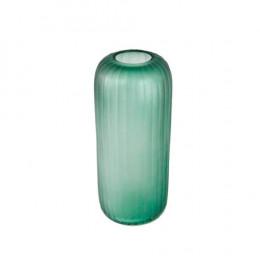 Vaso Decorativo em Vidro Verde - 36x15x15cm