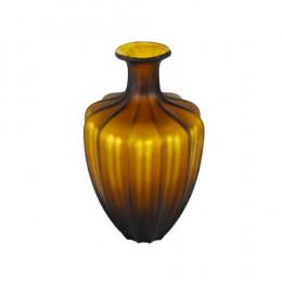 Vaso Decorativo em Vidro Âmbar - 33x19x19cm