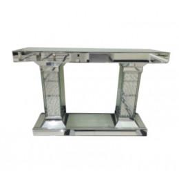 Aparador Espelhado Romana de Vidro com Pingentes Ellegance - 78x118x34cm