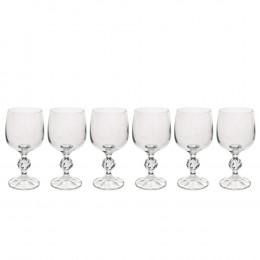 Jogo de 6 Taças para Vinho Branco Cláudia em Cristal - 190ml 14cm
