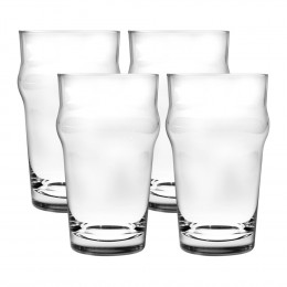 Jogo de Copos para Cerveja Nonic em Cristal Ecológico - 4 Peças
