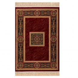 Tapete Persa Vermelho e Bege - 133x190cm
