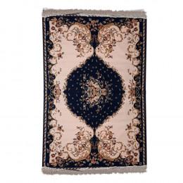 Tapete Persa Azul e Bege Floral - 160x235cm
