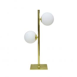 Luminária em Metal e Vidro com 2 Cúpulas - 46x14cm
