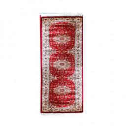 Passadeira Persa Bege com Vermelho - 80x200cm