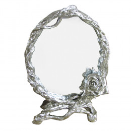 Espelho Clássico Oval Prateado - 36x27cm