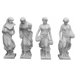 Esculturas Em Marmore (4 Estações)