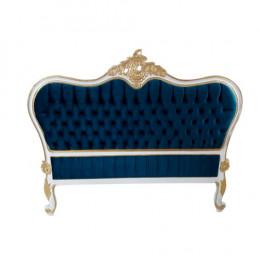 Cabeceira de Cama Clássica Azul Marinho - 154x187cm