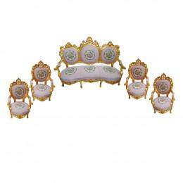 Jogo de Sofá Medalhão com 4 Poltronas - 185x75x175cm