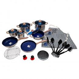 Kit de Panelas Royal Z Cookware Set Antiaderente - 23 Peças