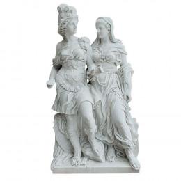 Escultura As Valquírias em Mármore Carrara - 52x190x100cm