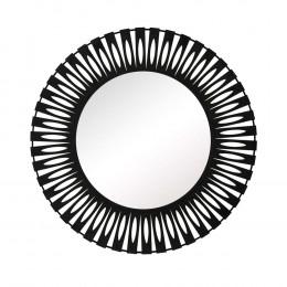 Espelho Redondo com Moldura em Metal Preto - 70x70cm