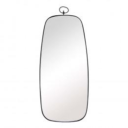 Espelho Retangular com Moldura em Metal Preto - 98x41cm