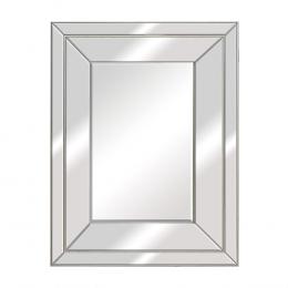 Espelho Retangular com Moldura em Prata - 67x67cm