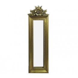 Espelho Clássico Retangular Dourado 49cm x 19cm