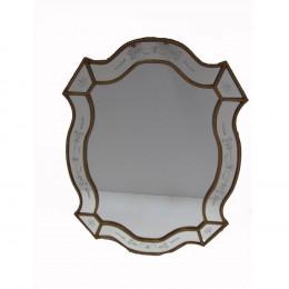 Espelho Clássico Folheado a Ouro - 90x67cm