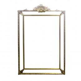 Espelho Clássico Provençal Folheado a Ouro - 191x125 cm