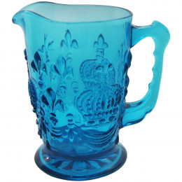 Jarra de Cristal Lewis Azul - 20x18cm