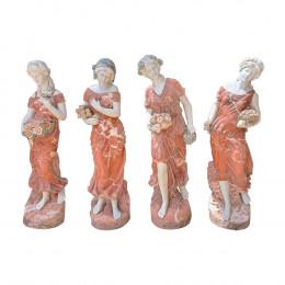Escultura quatro Estações em Mármore Carrara Sobreposto