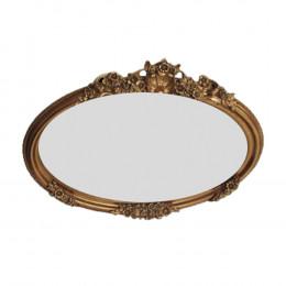 Espelho Decorativo Clássico Folheado a Ouro - 34x26cm