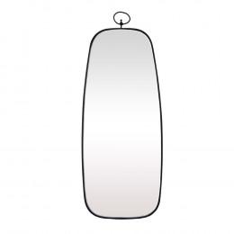 Espelho Retangular com Moldura em Metal Preto - 67X28cm