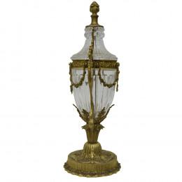 Ânfora de Cristal Com Adornos em Bronze Z'Áffora