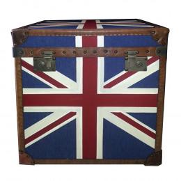 Baú em Madeira Bandeira Inglaterra 55x46x57 cm