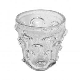 Vaso Decorativo em Murano Incolor - 16x14cm