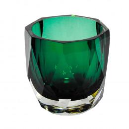 Vaso em Vidro Murano na Cor Verde - 12x12x12cm