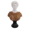 busto-dama-em-marmore-branco-e-marrom-30x18x10cm