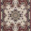 Tapete Persa Kerman Vermelho com Detalhes em Bege - 120x67cm