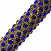 Pincel Decorativo com Cabo em Osso na cor Azul